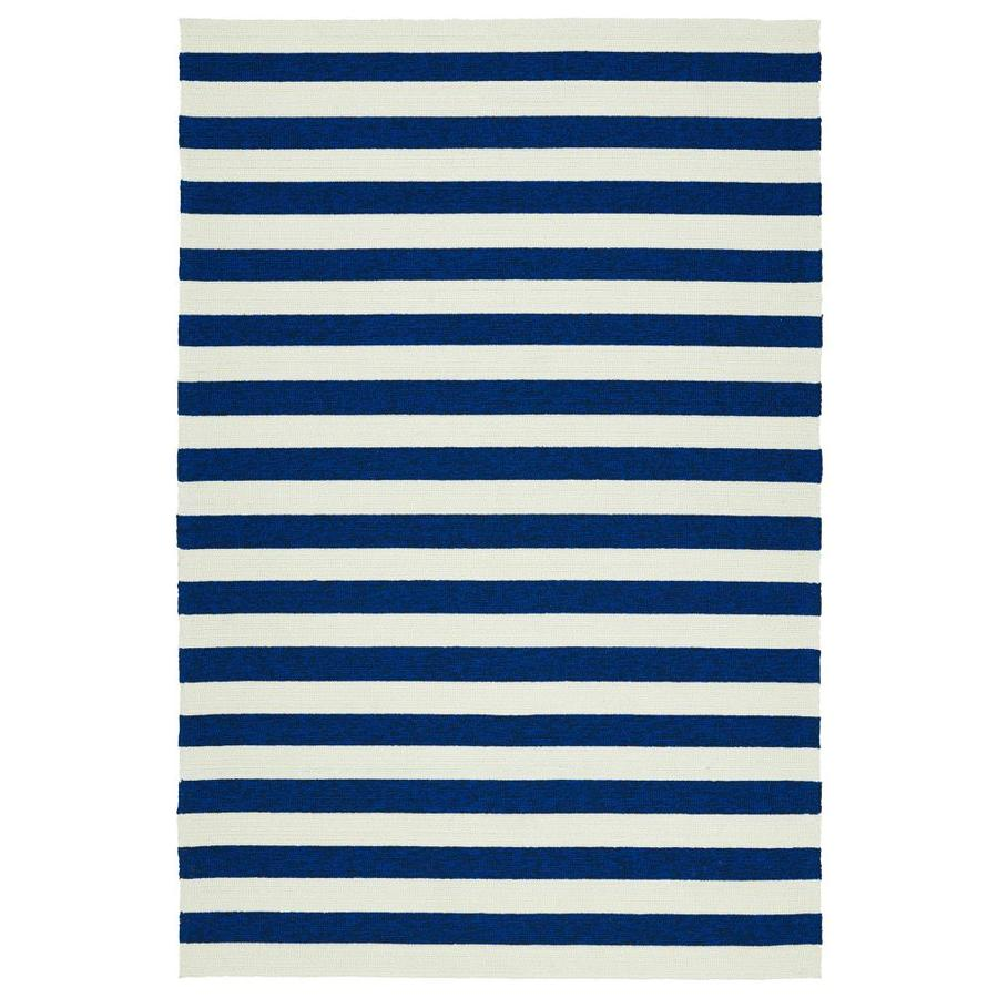 Kaleen Escape Navy Rectangular Indoor/Outdoor Handcrafted Coastal Area Rug (Common: 4 x 6; Actual: 4-ft W x 6-ft L)