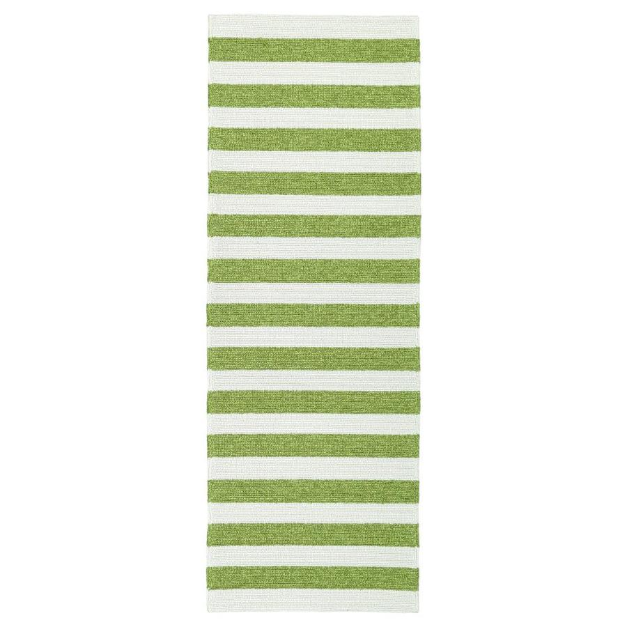 Kaleen Escape Green Indoor/Outdoor Handcrafted Coastal Runner (Common: 2 x 6; Actual: 2-ft W x 6-ft L)