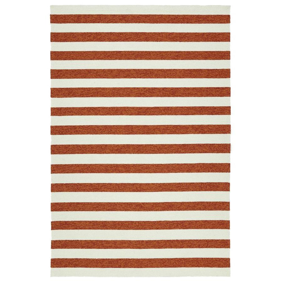 Kaleen Escape Paprika Indoor/Outdoor Handcrafted Coastal Area Rug (Common: 9 x 12; Actual: 9-ft W x 12-ft L)