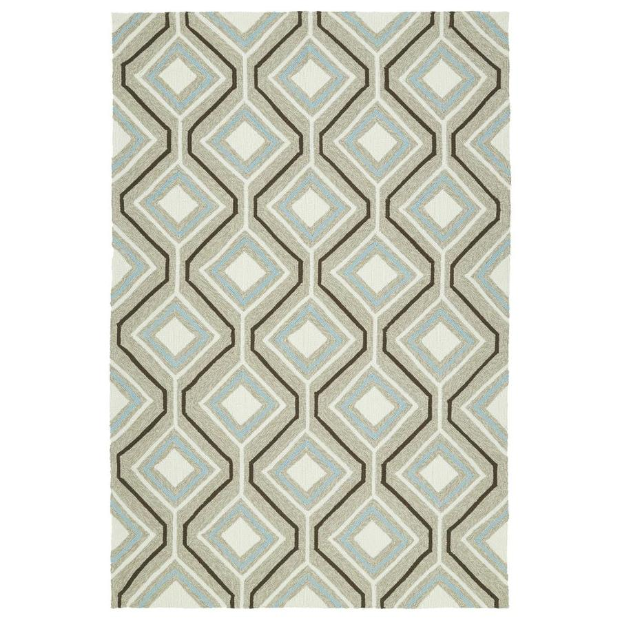 Kaleen Escape Light Brown Rectangular Indoor/Outdoor Handcrafted Coastal Area Rug (Common: 4 x 6; Actual: 4-ft W x 6-ft L)