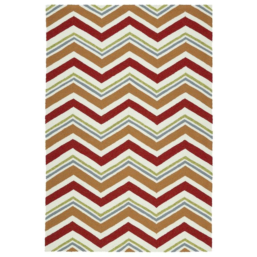 Kaleen Escape Red Rectangular Indoor/Outdoor Handcrafted Coastal Area Rug (Common: 8 x 10; Actual: 8-ft W x 10-ft L)