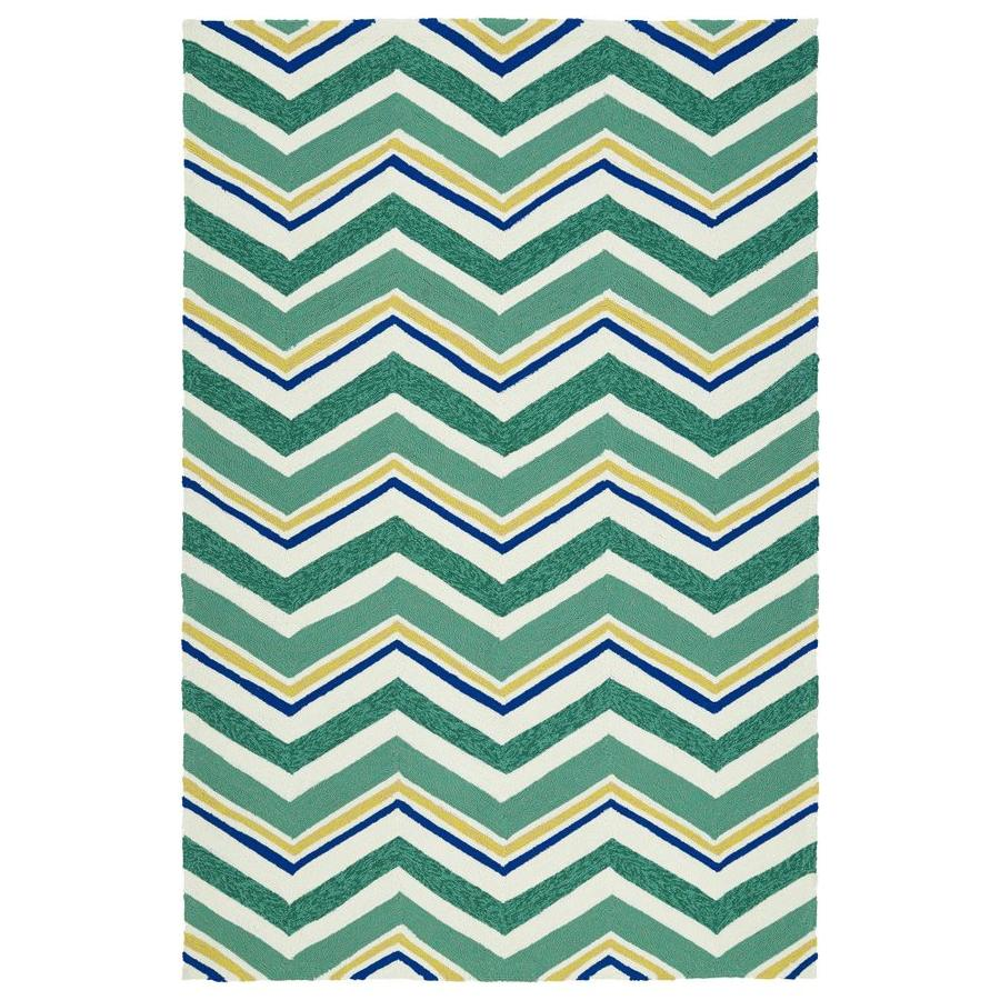 Kaleen Escape Emerald Rectangular Indoor/Outdoor Handcrafted Coastal Area Rug (Common: 8 x 10; Actual: 8-ft W x 10-ft L)