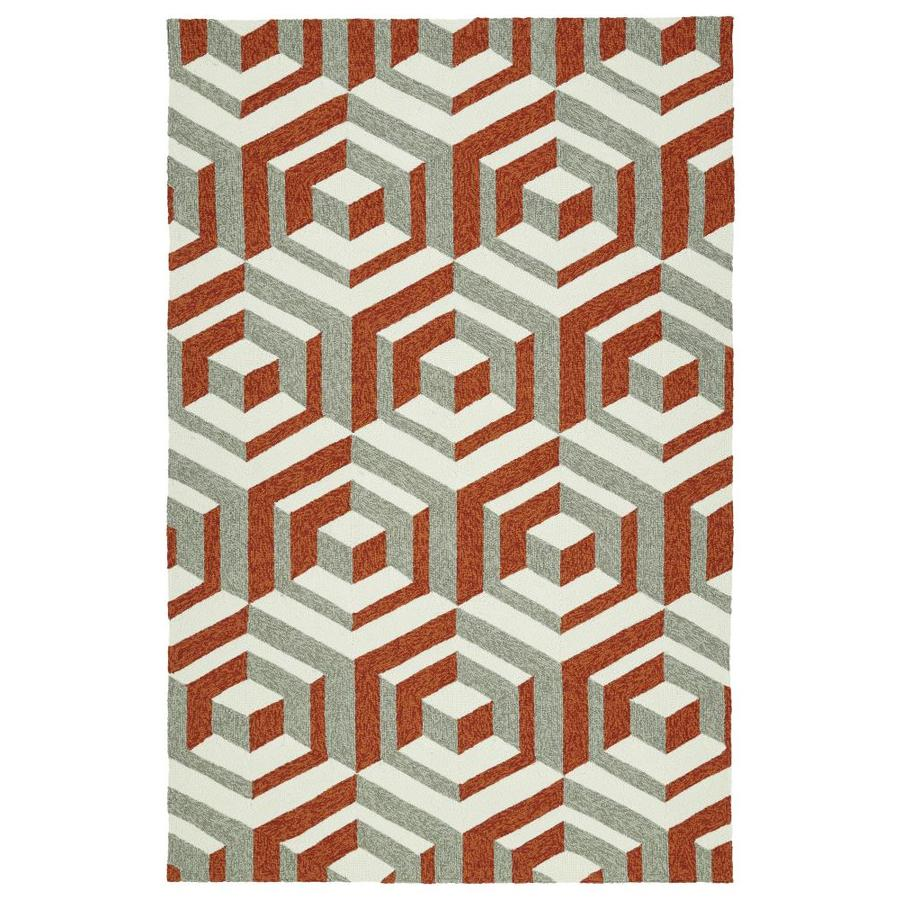 Kaleen Escape Paprika Rectangular Indoor/Outdoor Handcrafted Coastal Area Rug (Common: 9 x 12; Actual: 9-ft W x 12-ft L)