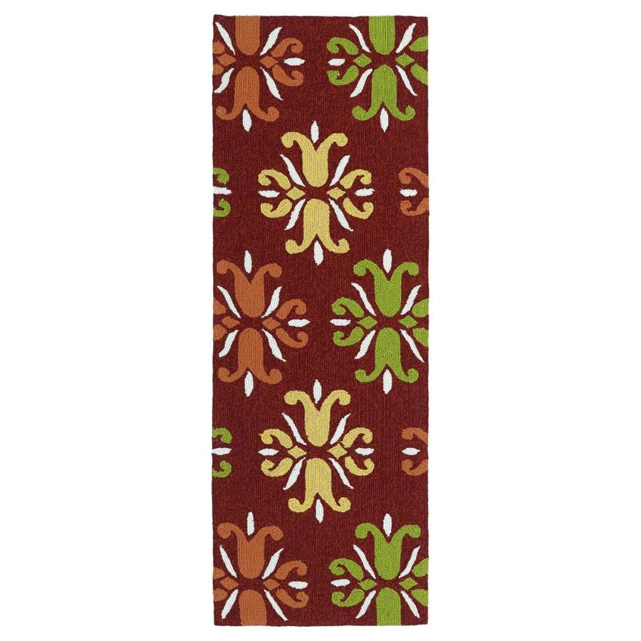 Kaleen Escape Red 2-ft x 6-ft Runner
