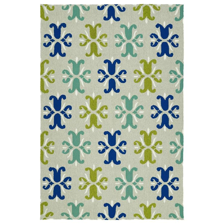 Kaleen Escape Grey Indoor/Outdoor Handcrafted Coastal Area Rug (Common: 8 x 10; Actual: 8-ft W x 10-ft L)