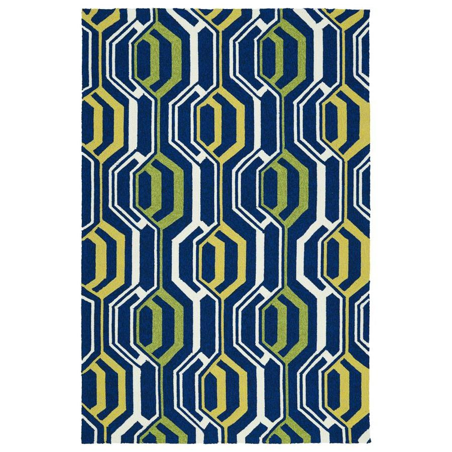 Kaleen Escape Navy Indoor/Outdoor Handcrafted Coastal Area Rug (Common: 9 x 12; Actual: 9-ft W x 12-ft L)