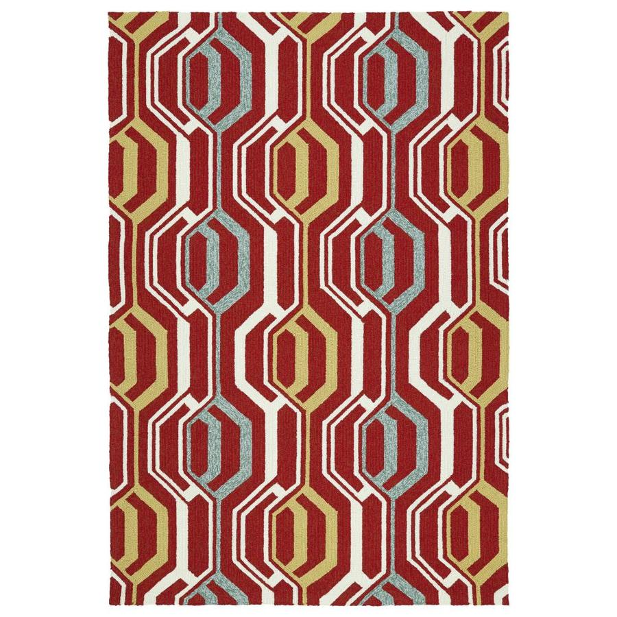 Kaleen Escape Red Indoor/Outdoor Handcrafted Coastal Area Rug (Common: 9 x 12; Actual: 9-ft W x 12-ft L)