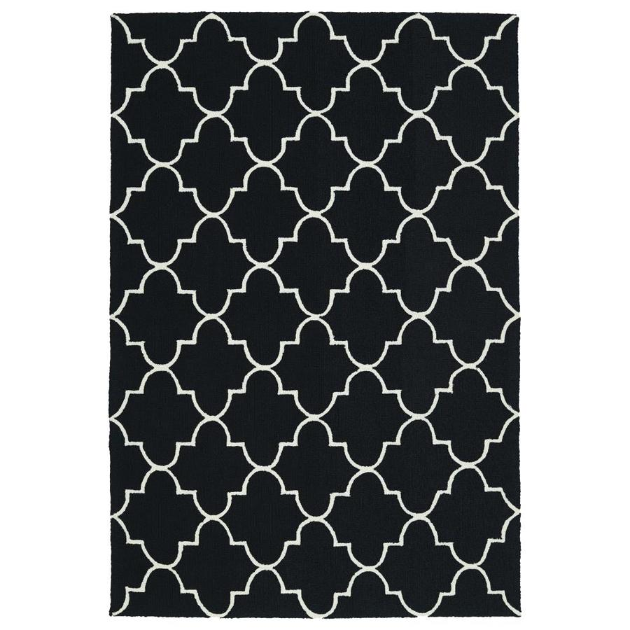 Kaleen Escape Black Indoor/Outdoor Handcrafted Coastal Area Rug (Common: 5 x 8; Actual: 5-ft W x 7.5-ft L)