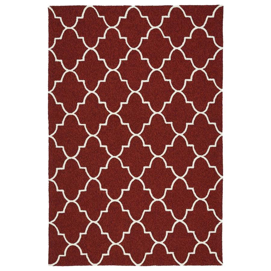 Shop Kaleen Escape Red Rectangular Indoor Outdoor