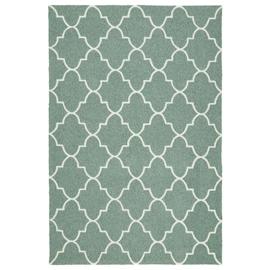 Kaleen Escape Mint Indoor/Outdoor Handcrafted Coastal Area Rug (Common: 8 x 10; Actual: 8-ft W x 10-ft L)