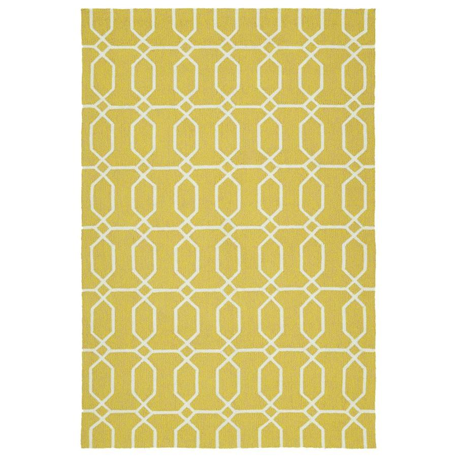 Kaleen Escape Gold Indoor/Outdoor Handcrafted Coastal Area Rug (Common: 8 x 10; Actual: 8-ft W x 10-ft L)