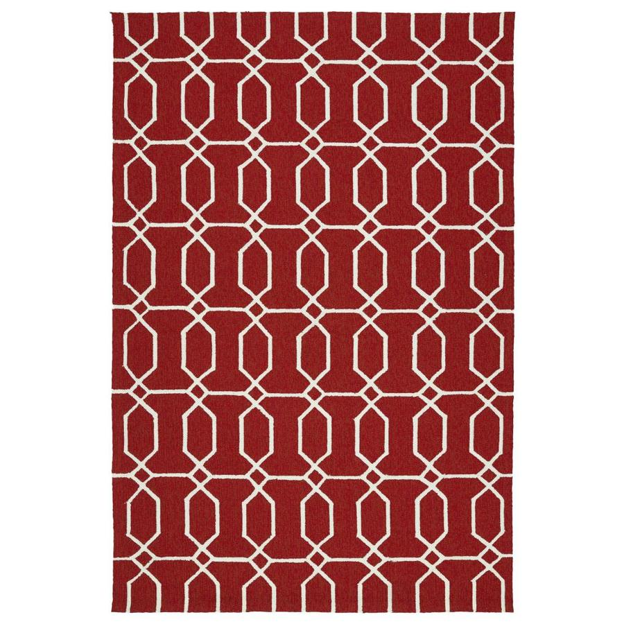 Kaleen Escape Red Rectangular Indoor/Outdoor Handcrafted Coastal Throw Rug (Common: 2 x 3; Actual: 2-ft W x 3-ft L)