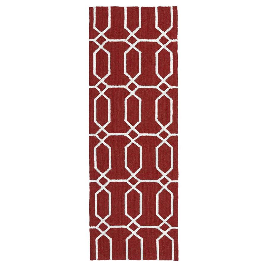 Kaleen Escape Red Indoor/Outdoor Handcrafted Coastal Runner (Common: 2 x 6; Actual: 2-ft W x 6-ft L)