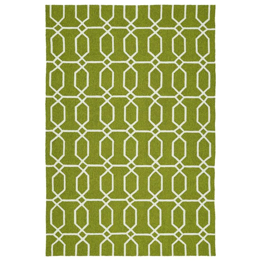 Kaleen Escape Green Indoor/Outdoor Handcrafted Coastal Area Rug (Common: 5 x 8; Actual: 5-ft W x 7.5-ft L)