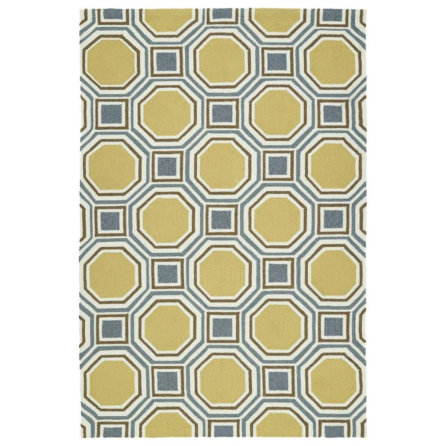 Kaleen Escape Gold Indoor/Outdoor Handcrafted Coastal Area Rug (Common: 4 x 6; Actual: 4-ft W x 6-ft L)