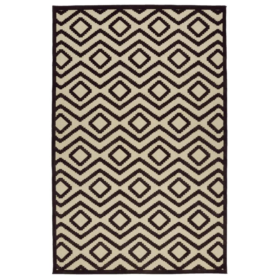 Kaleen A Breath of Fresh Air Brown Indoor/Outdoor Novelty Throw Rug (Common: 2 x 4; Actual: 2.08-ft W x 4-ft L)