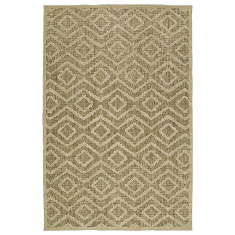 Kaleen A Breath of Fresh Air Khaki Rectangular Indoor/Outdoor Machine-Made Novelty Area Rug (Common: 4 x 6; Actual: 3.83-ft W x 5.66-ft L)