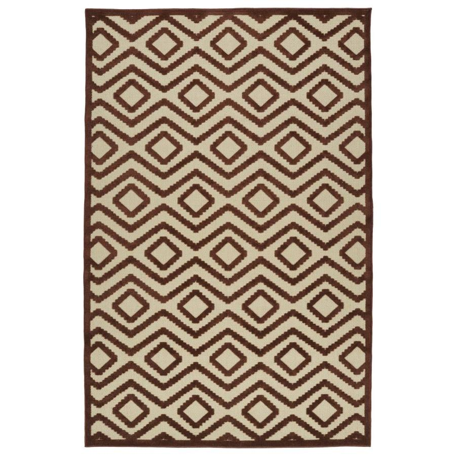 Kaleen A Breath of Fresh Air Terracota Indoor/Outdoor Novelty Area Rug (Common: 4 x 6; Actual: 3.83-ft W x 5.66-ft L)