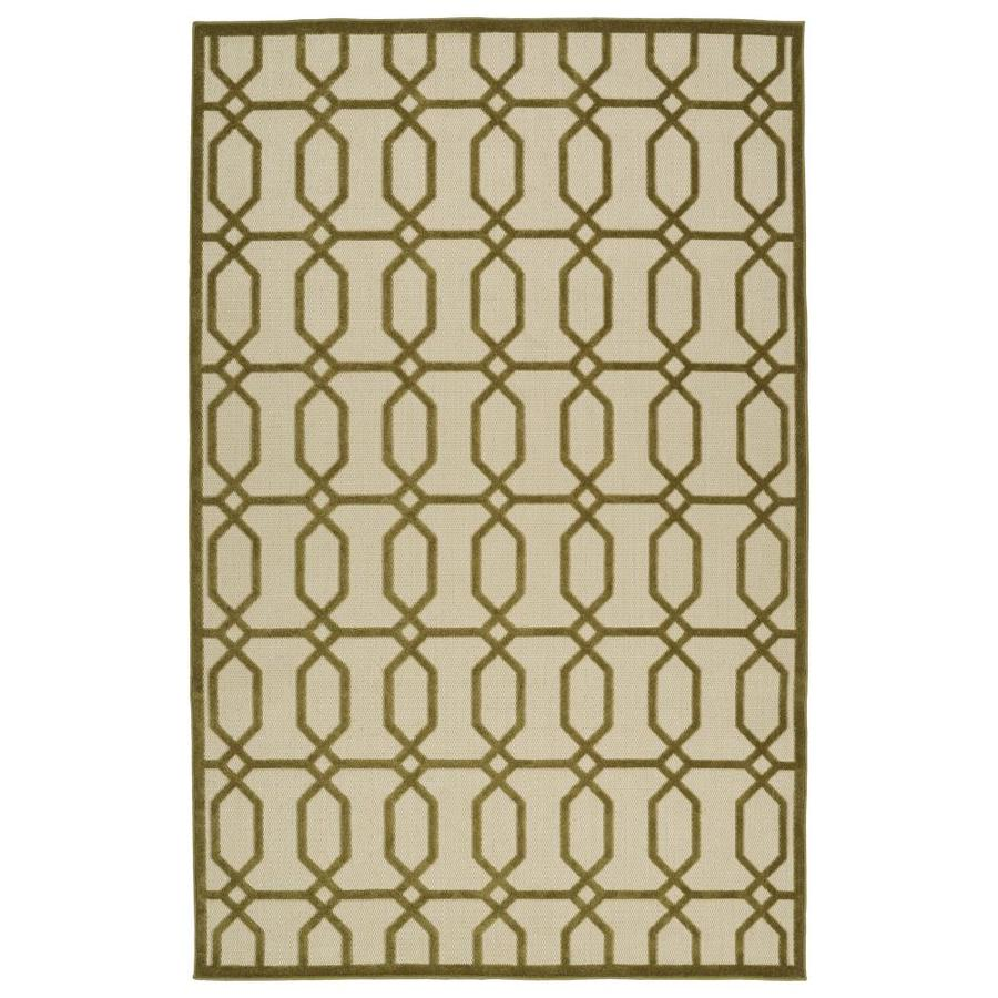 Kaleen A Breath of Fresh Air Olive Rectangular Indoor/Outdoor Machine-Made Novelty Area Rug (Common: 9 x 12; Actual: 8.66-ft W x 12-ft L)