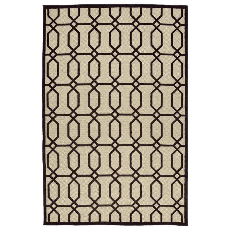 Kaleen A Breath of Fresh Air Brown Rectangular Indoor/Outdoor Machine-Made Novelty Throw Rug (Common: 2 x 4; Actual: 2.08-ft W x 4-ft L)