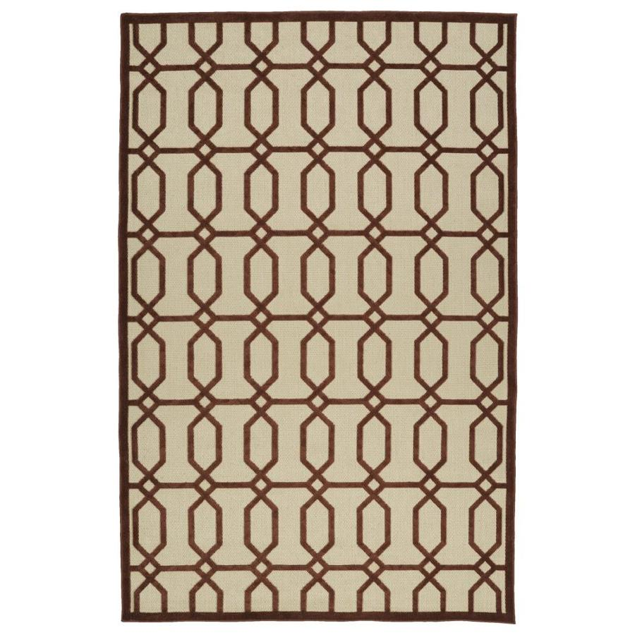Kaleen A Breath of Fresh Air Terracota Indoor/Outdoor Novelty Throw Rug (Common: 2 x 4; Actual: 2.08-ft W x 4-ft L)