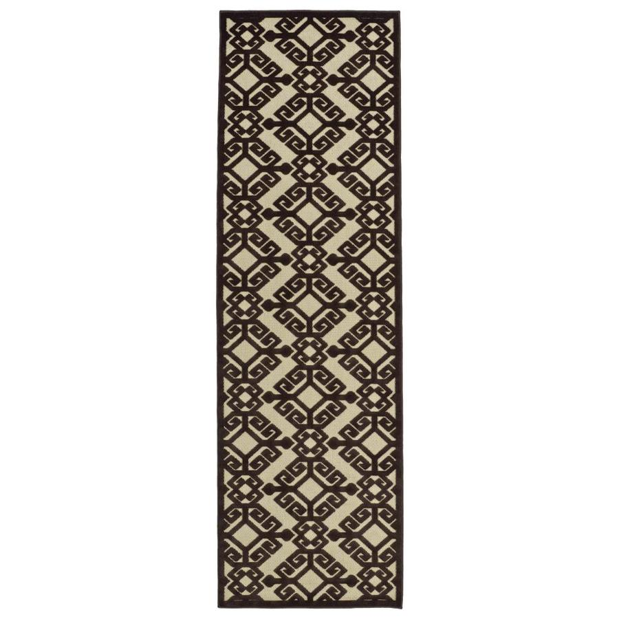 Kaleen A Breath of Fresh Air Brown Indoor/Outdoor Novelty Runner (Common: 2 x 8; Actual: 2.5-ft W x 7.83-ft L)
