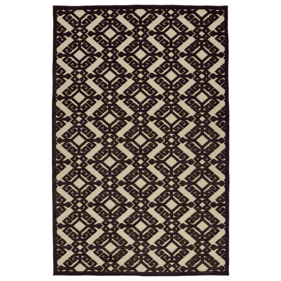 Kaleen A Breath of Fresh Air Brown Rectangular Indoor/Outdoor Machine-Made Novelty Area Rug (Common: 8 x 11; Actual: 7.83-ft W x 10.66-ft L)