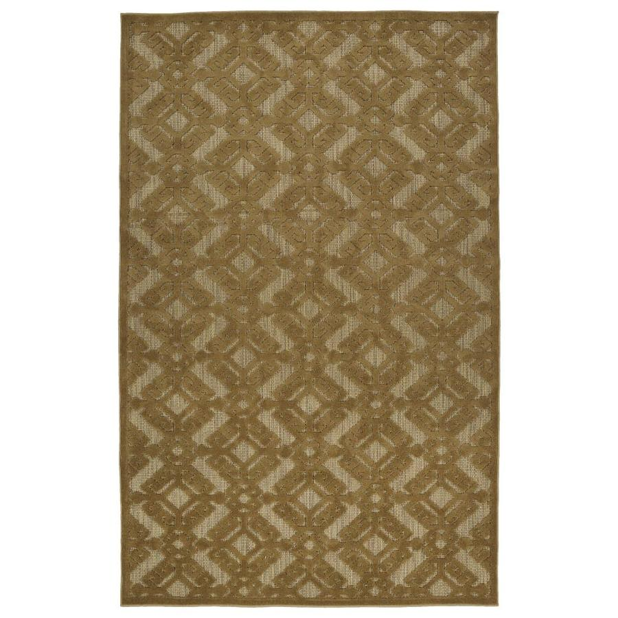 Kaleen A Breath of Fresh Air Light Brown Rectangular Indoor/Outdoor Machine-Made Novelty Area Rug (Common: 5 x 8; Actual: 5-ft W x 7.5-ft L)