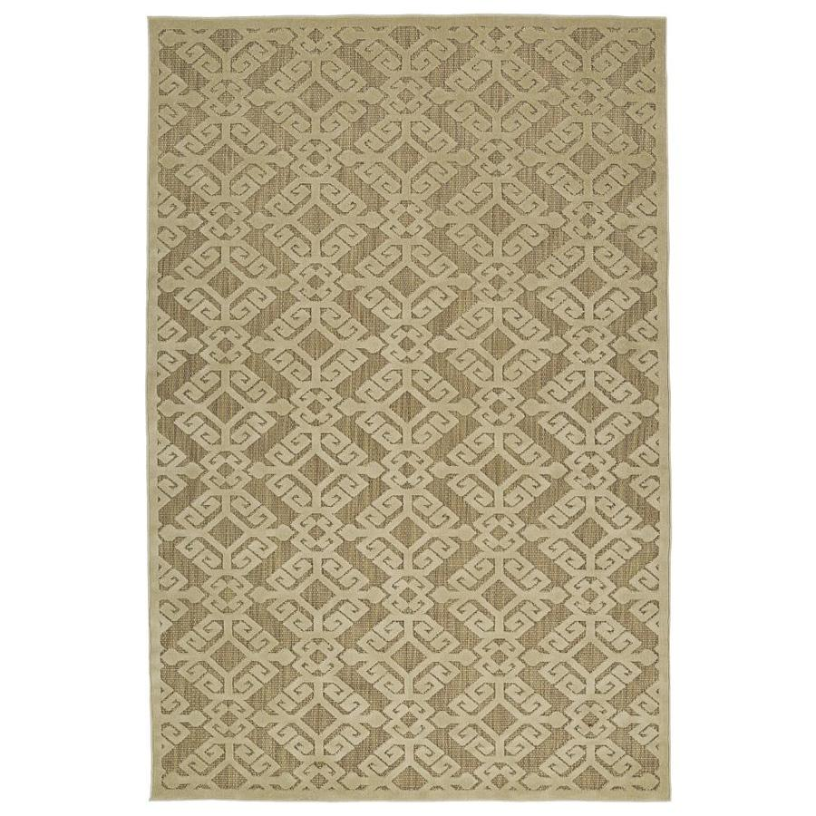 Kaleen A Breath of Fresh Air Khaki Rectangular Indoor/Outdoor Machine-Made Novelty Area Rug (Common: 8 x 11; Actual: 7.83-ft W x 10.66-ft L)