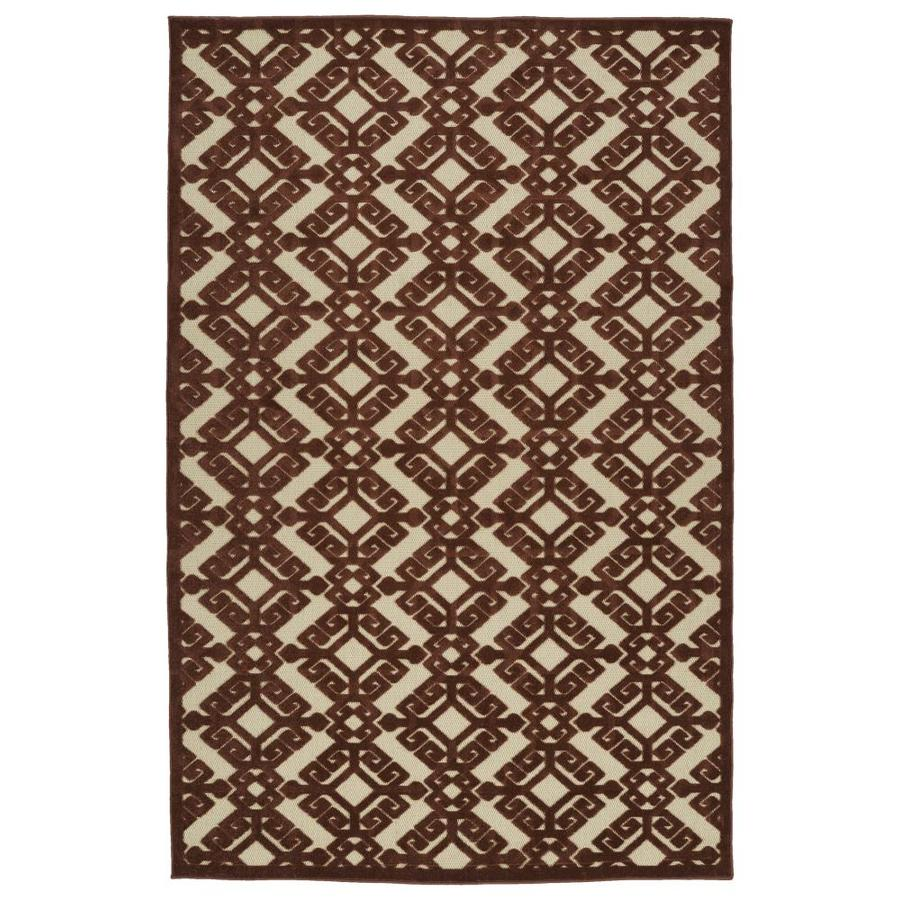 Kaleen A Breath of Fresh Air Terracota Rectangular Indoor/Outdoor Machine-Made Novelty Throw Rug (Common: 2 x 4; Actual: 2.08-ft W x 4-ft L)