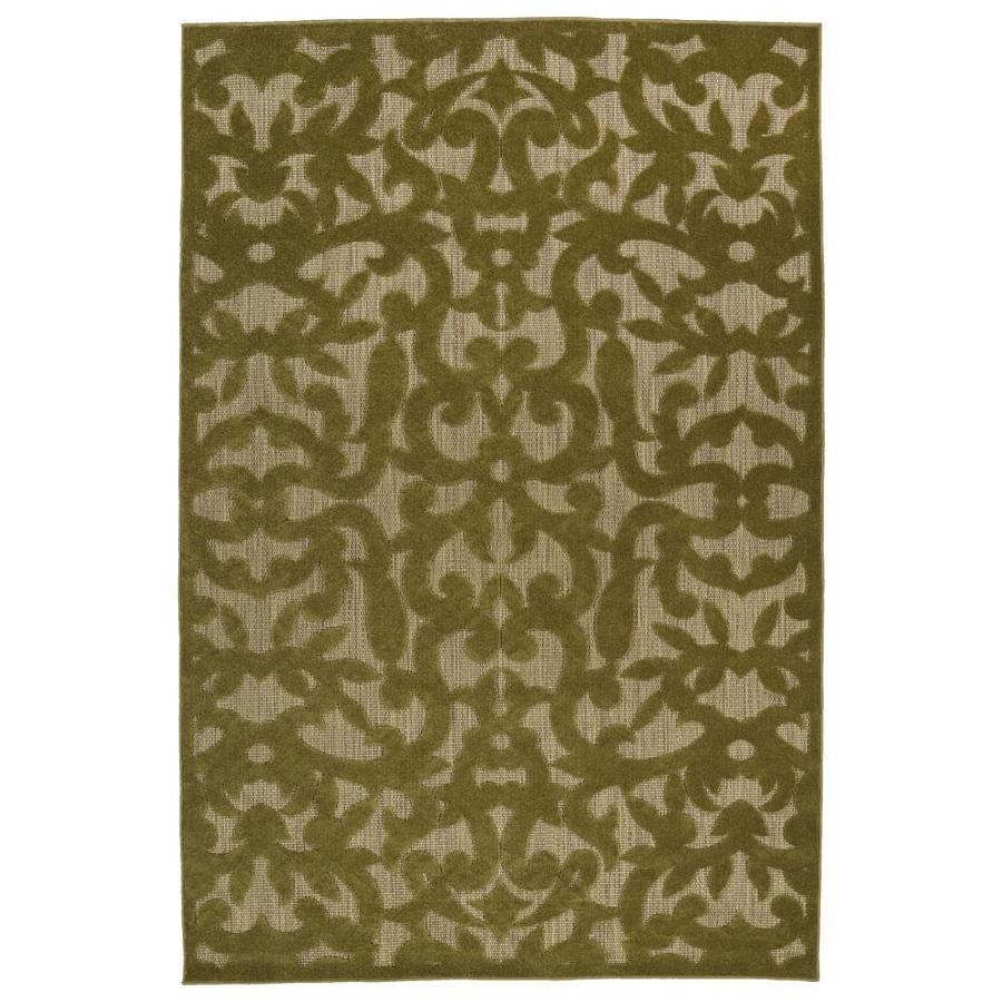 Kaleen A Breath of Fresh Air Olive Indoor/Outdoor Novelty Area Rug (Common: 8 x 11; Actual: 7.83-ft W x 10.66-ft L)