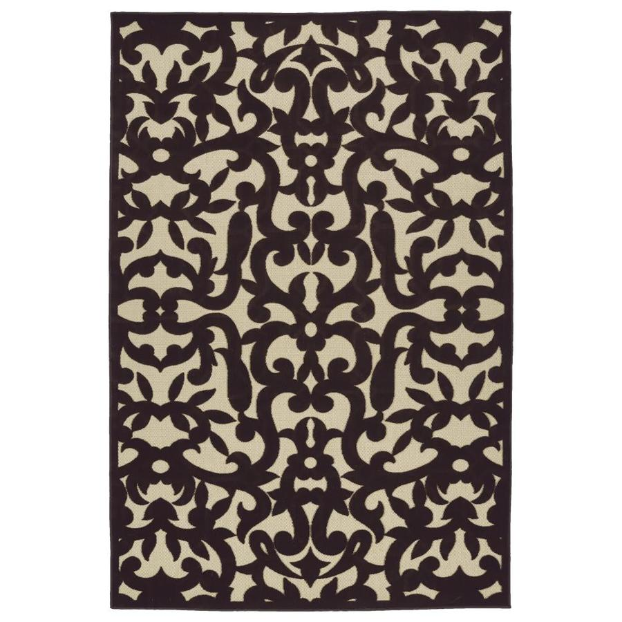 Kaleen A Breath of Fresh Air Brown Rectangular Indoor/Outdoor Machine-Made Novelty Area Rug (Common: 9 x 12; Actual: 8.66-ft W x 12-ft L)