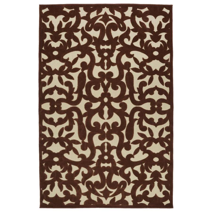 Kaleen A Breath of Fresh Air Terracota Rectangular Indoor/Outdoor Machine-Made Novelty Area Rug (Common: 5 x 8; Actual: 5-ft W x 7.5-ft L)