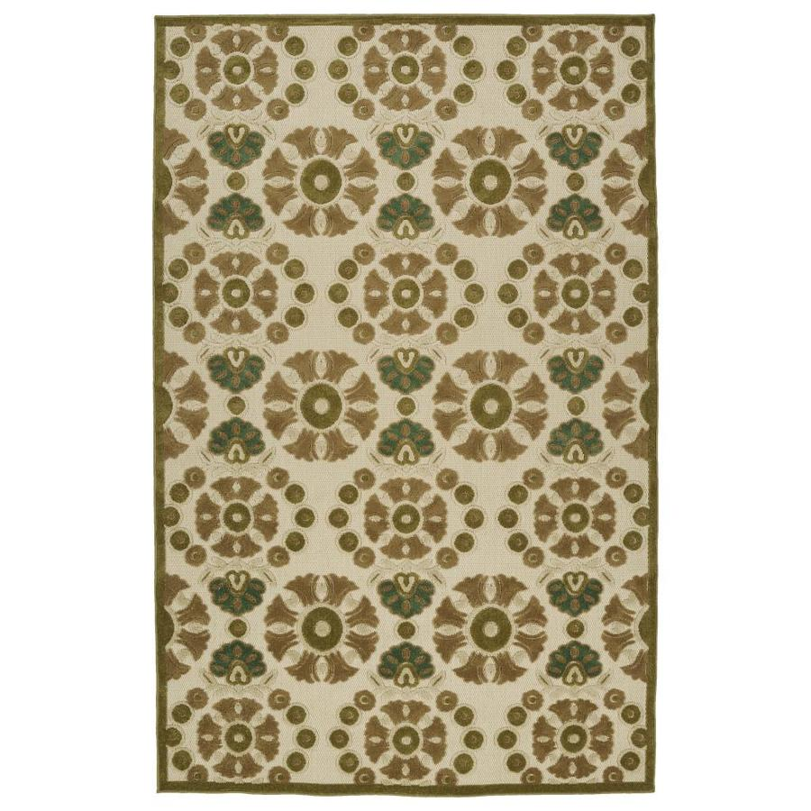 Kaleen A Breath of Fresh Air Olive Indoor/Outdoor Novelty Area Rug (Common: 5 x 8; Actual: 5-ft W x 7.5-ft L)