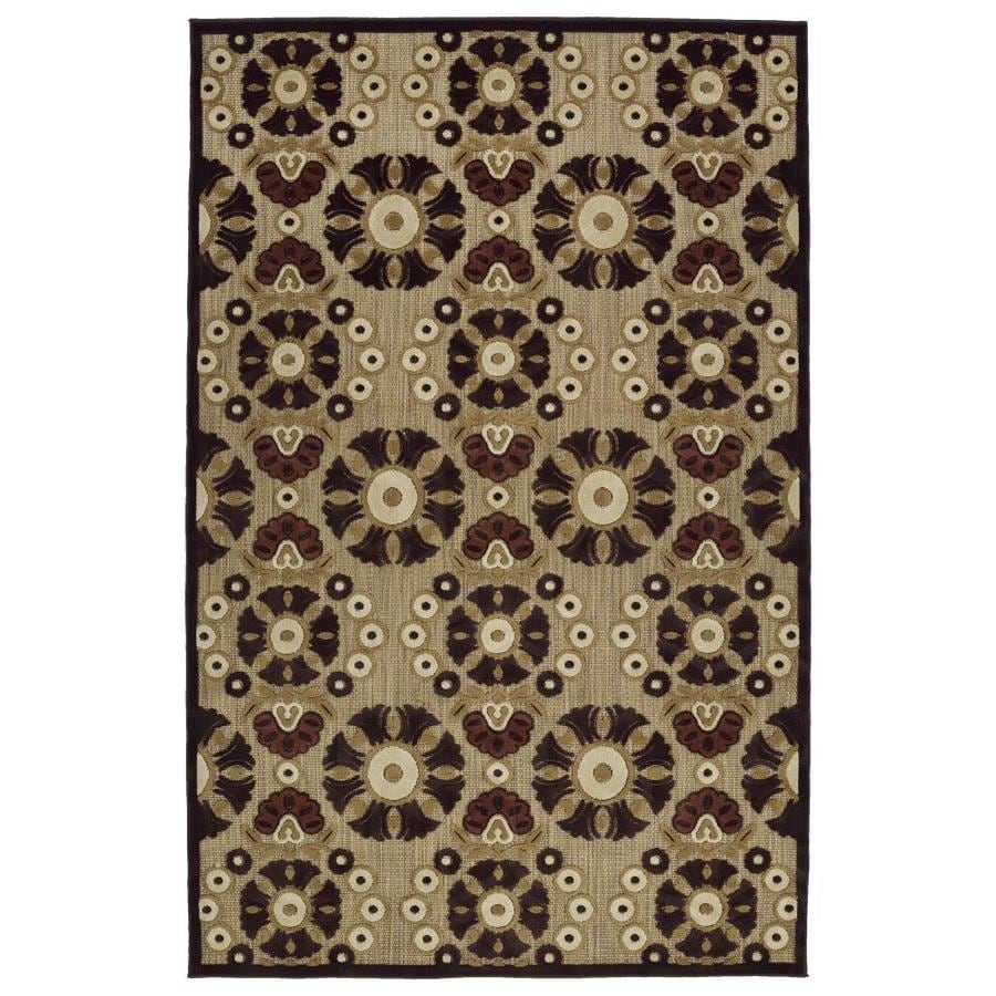 Kaleen A Breath of Fresh Air Brown Indoor/Outdoor Novelty Area Rug (Common: 4 x 6; Actual: 3.83-ft W x 5.66-ft L)