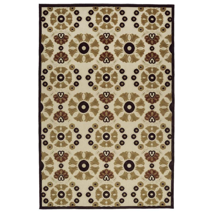 Kaleen A Breath of Fresh Air Khaki Indoor/Outdoor Novelty Throw Rug (Common: 2 x 4; Actual: 2.08-ft W x 4-ft L)