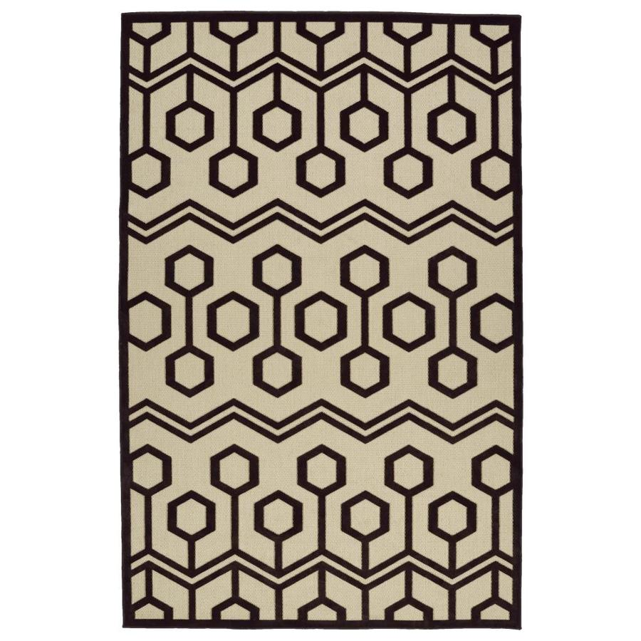 Kaleen A Breath of Fresh Air Brown Rectangular Indoor/Outdoor Machine-Made Novelty Area Rug (Common: 5 x 8; Actual: 5-ft W x 7.5-ft L)