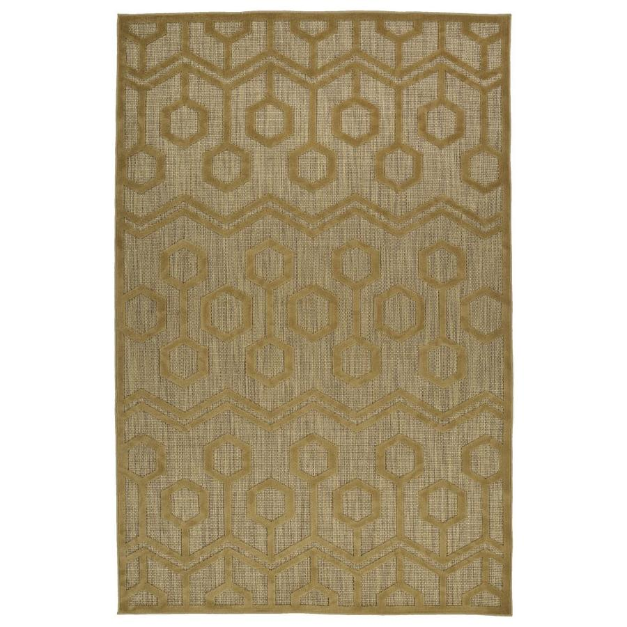 Kaleen A Breath of Fresh Air Light Brown Rectangular Indoor/Outdoor Machine-Made Novelty Area Rug (Common: 4 x 6; Actual: 3.83-ft W x 5.66-ft L)