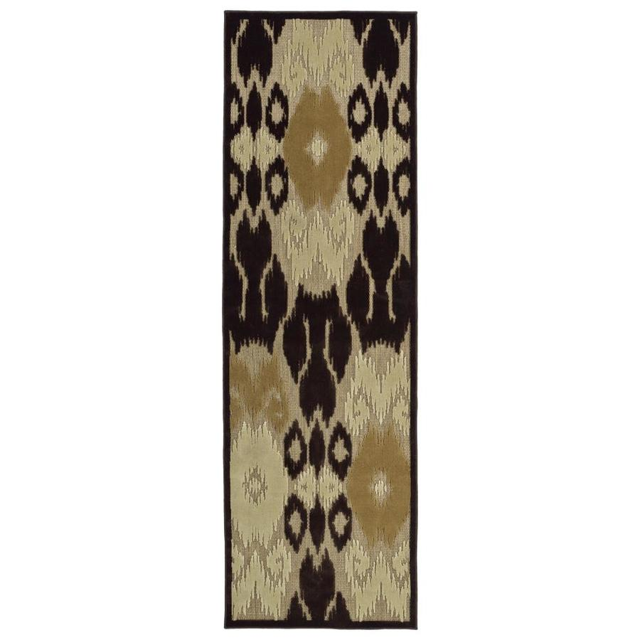 Kaleen A Breath of Fresh Air Brown Indoor/Outdoor Novelty Runner (Common: 3 x 8; Actual: 2.5-ft W x 7.83-ft L)