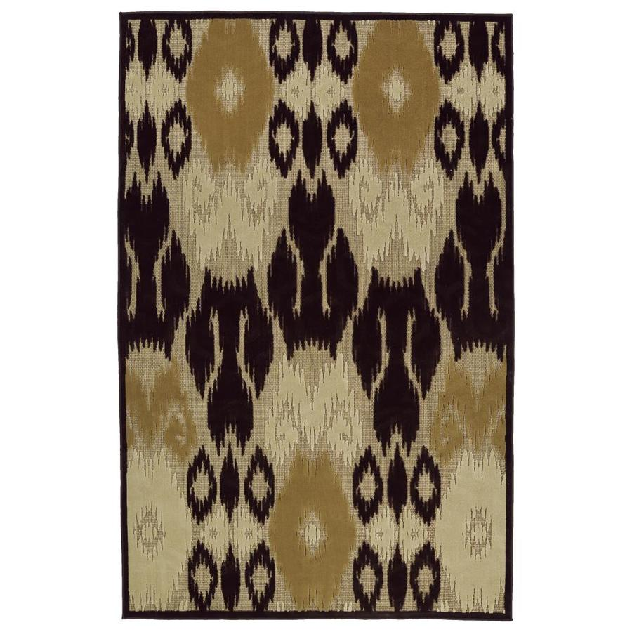 Kaleen A Breath of Fresh Air Brown Rectangular Indoor/Outdoor Machine-Made Novelty Area Rug (Common: 4 x 6; Actual: 3.83-ft W x 5.66-ft L)
