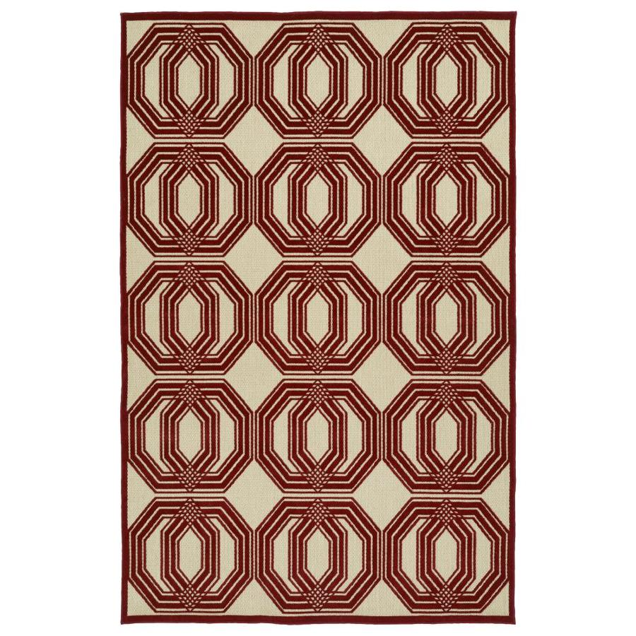 Kaleen A Breath of Fresh Air Red Indoor/Outdoor Novelty Area Rug (Common: 9 x 12; Actual: 8.66-ft W x 12-ft L)