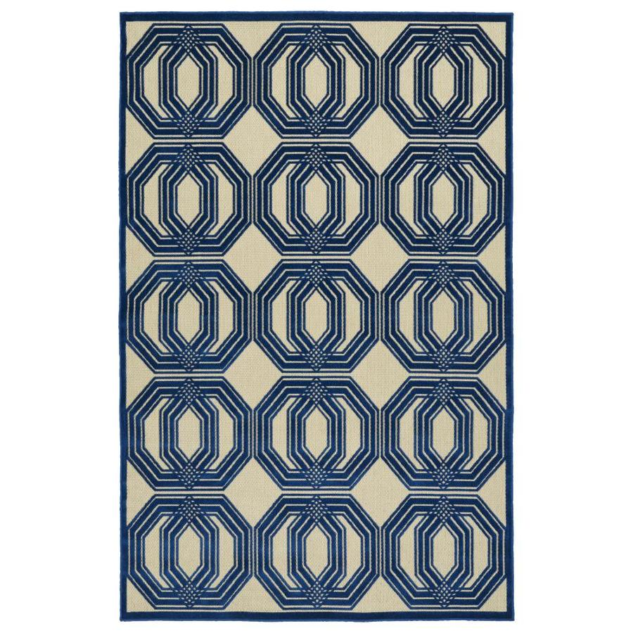 Kaleen A Breath of Fresh Air Navy Rectangular Indoor/Outdoor Machine-Made Novelty Area Rug (Common: 4 x 6; Actual: 3.83-ft W x 5.66-ft L)