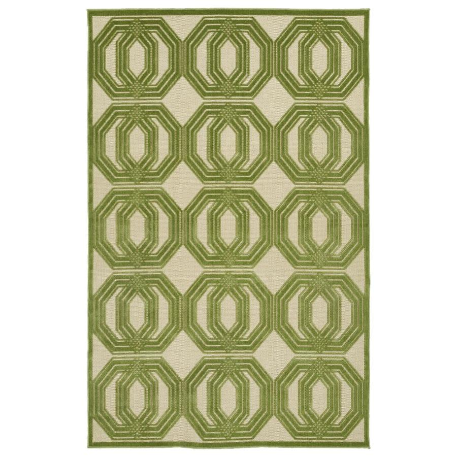 Kaleen A Breath of Fresh Air Green Indoor/Outdoor Novelty Area Rug (Common: 4 x 6; Actual: 3.83-ft W x 5.66-ft L)