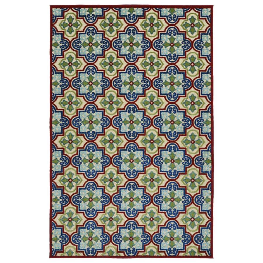 Kaleen A Breath of Fresh Air Multi Rectangular Indoor/Outdoor Machine-Made Novelty Area Rug (Common: 5 x 8; Actual: 5-ft W x 7.5-ft L)