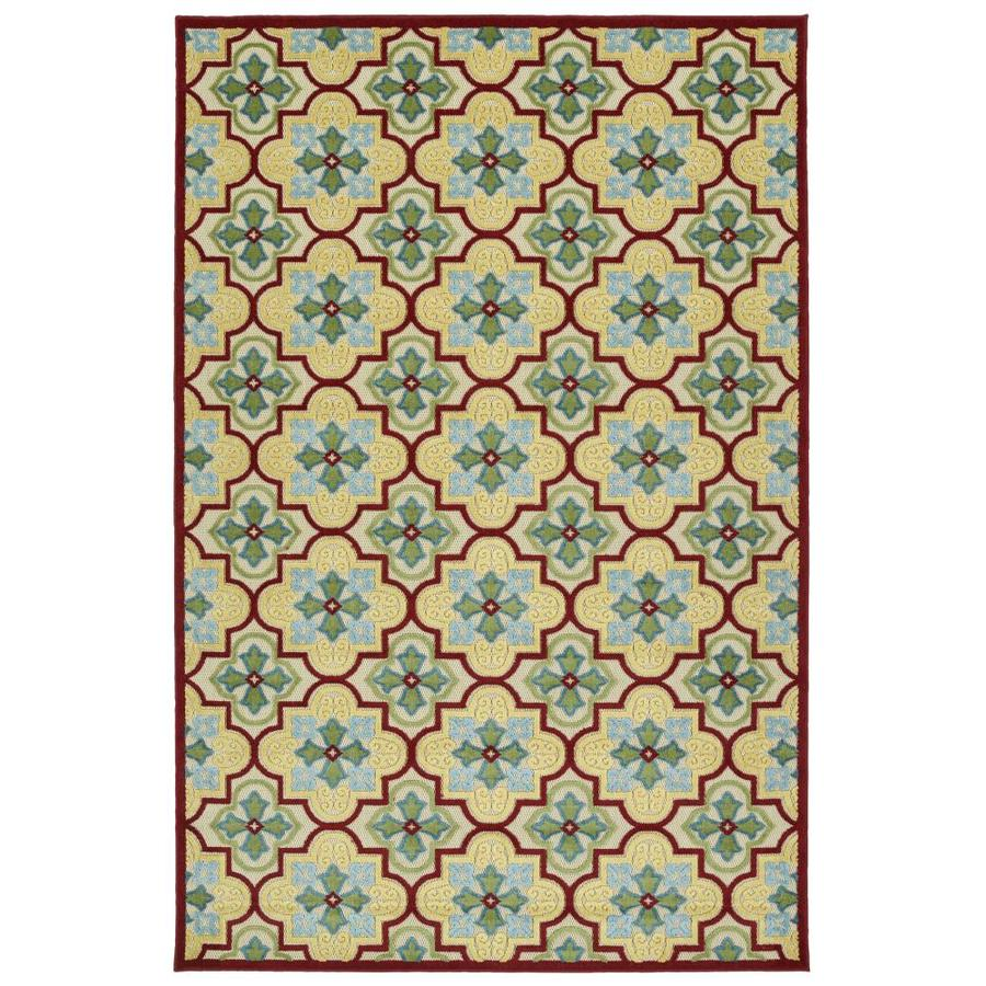 Kaleen A Breath of Fresh Air Gold Rectangular Indoor/Outdoor Machine-Made Novelty Area Rug (Common: 4 x 6; Actual: 3.83-ft W x 5.66-ft L)