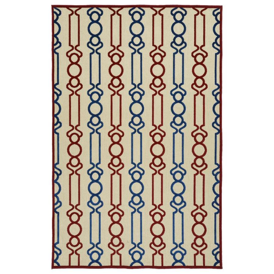 Kaleen A Breath of Fresh Air Red Indoor/Outdoor Novelty Area Rug (Common: 4 x 6; Actual: 3.83-ft W x 5.66-ft L)