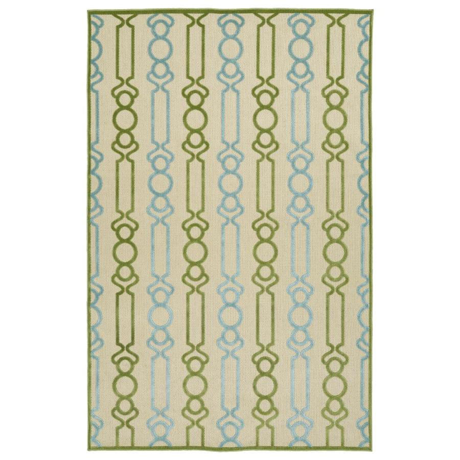 Kaleen A Breath of Fresh Air Green Indoor/Outdoor Novelty Area Rug (Common: 9 x 12; Actual: 8.66-ft W x 12-ft L)