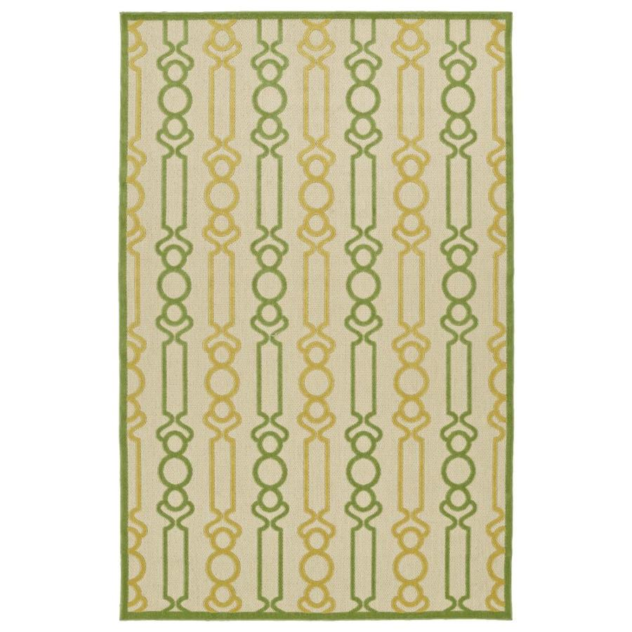 Kaleen A Breath of Fresh Air Gold Rectangular Indoor/Outdoor Machine-Made Novelty Area Rug (Common: 9 x 12; Actual: 8.66-ft W x 12-ft L)