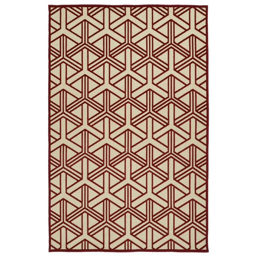 Kaleen A Breath of Fresh Air Red Indoor/Outdoor Novelty Area Rug (Common: 5 x 8; Actual: 5-ft W x 7.5-ft L)