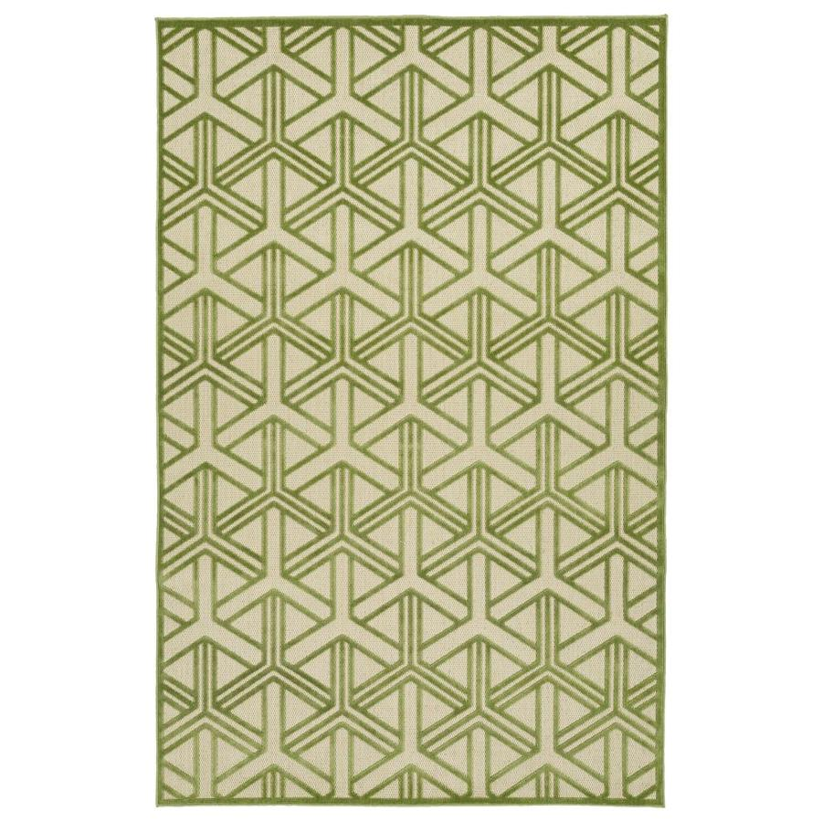 Kaleen A Breath of Fresh Air Green Rectangular Indoor/Outdoor Machine-Made Novelty Area Rug (Common: 9 x 12; Actual: 8.66-ft W x 12-ft L)